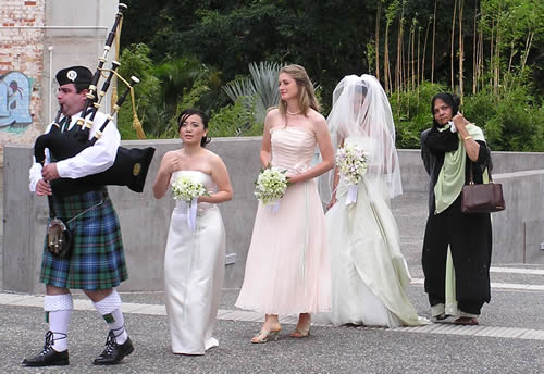 a multicultural wedding